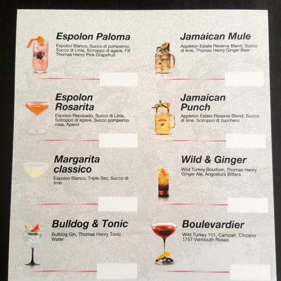 Elemento visibilità tailor made Espolon - Drink List