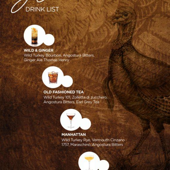 Elemento visibilità tailor made Wild Turkey - Drink list